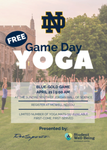 Game Day Yoga - Blue+Gold Game