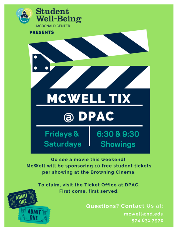 Mcwell Tix at Dpac Poster
